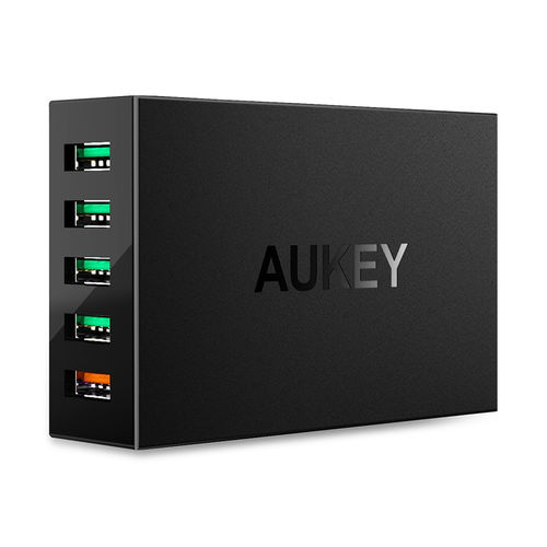 Aukey PA-T15 (55.5W) 5-Port Fast USB Wall Charger (Quick Charge 3.0)